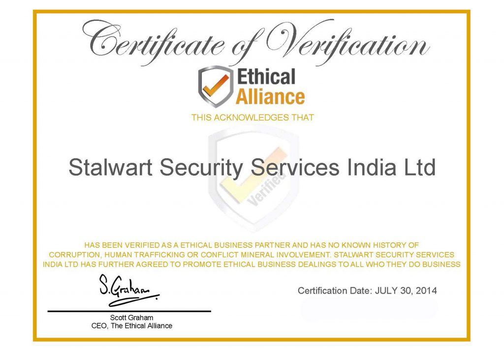 ethical business partner certificate