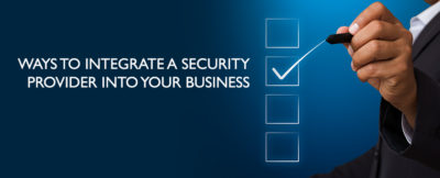 integrating security provider into business
